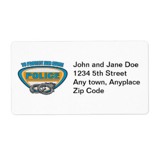 Protect and Serve Handcuffs Shipping Label