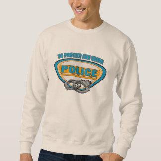 Protect and Serve Handcuffs Sweatshirt