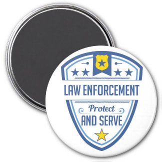 Protect and Serve Police Badge Magnet