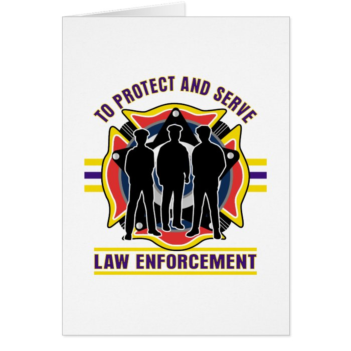 Protect and Serve Police Card
