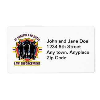 Protect and Serve Police Label
