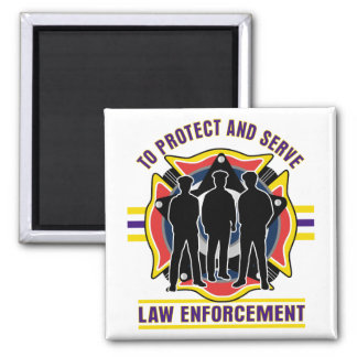 Protect and Serve Police Magnet