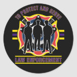 Protect and Serve Police Sticker