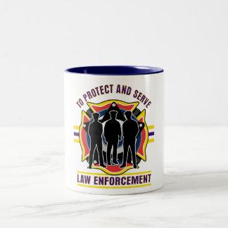 Protect and Serve Police Two-Tone Coffee Mug