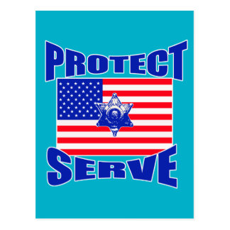 Protect And Serve Postcard