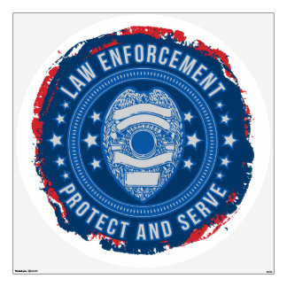 Protect and Serve Seal of Safety Wall Sticker