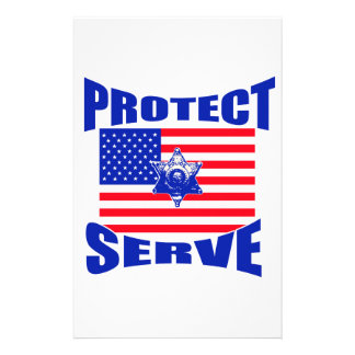 Protect And Serve Stationery