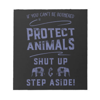 Protect Animals 2 Note Pad
