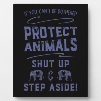 Protect Animals 2 Plaque