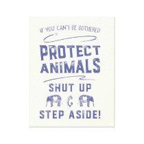 Protect Animals Canvas Print
