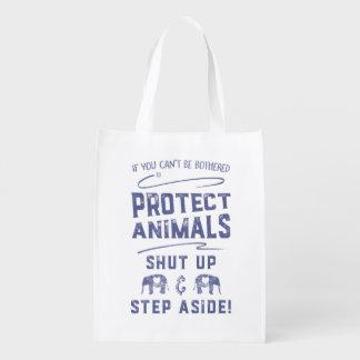 Protect Animals Reusable Grocery Bag