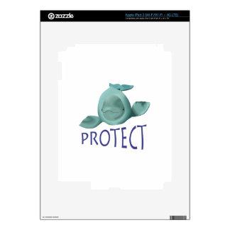 PROTECT BELUGA WHALES iPad 3 DECALS