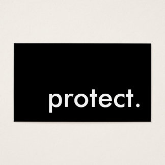 protect. business card