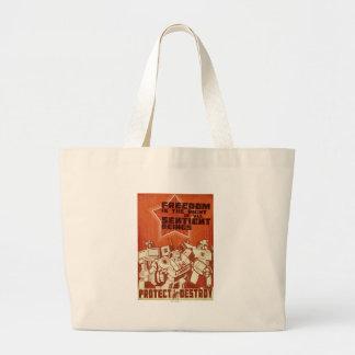 Protect/Destroy Large Tote Bag