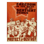 Protect/Destroy Post Card