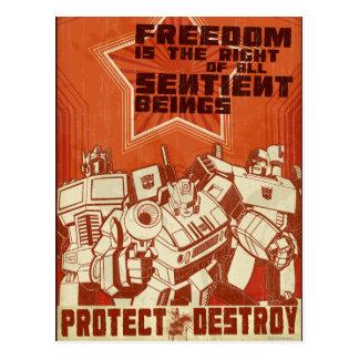 Protect/Destroy Postcard