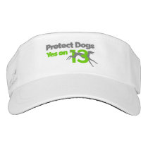 Protect Dogs - Vote Yes on 13 Visor