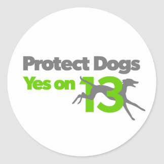 Protect Dogs - YesOn13 small stickers