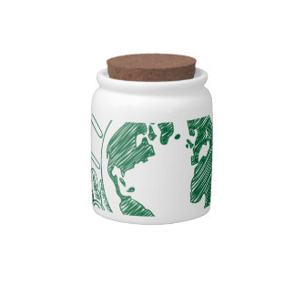 Protect environment candy jars