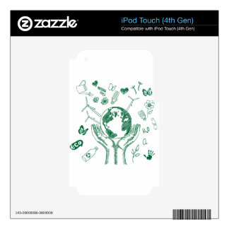 Protect environment decal for iPod touch 4G