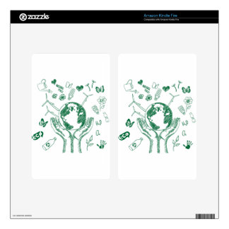 Protect environment decals for kindle fire