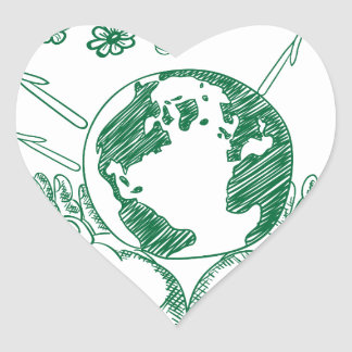 Protect environment heart sticker