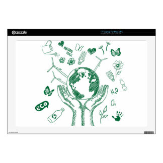 Protect environment laptop decals