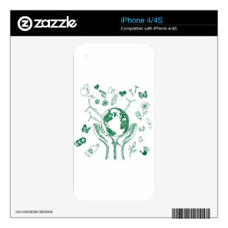 Protect environment skin for iPhone 4