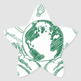Protect environment star sticker