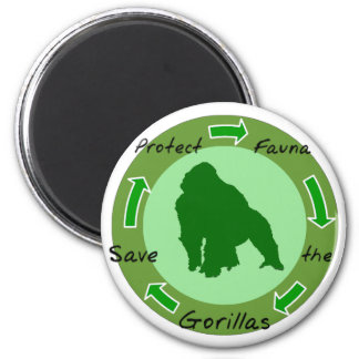 Protect gorillas magnet
