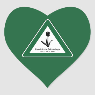 Protect Green Area Sign, Berlin, Germany Heart Sticker