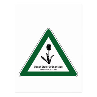 Protect Green Area Sign, Berlin, Germany Postcard
