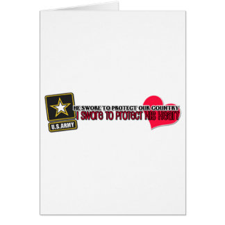Protect his heart Army Greeting Card