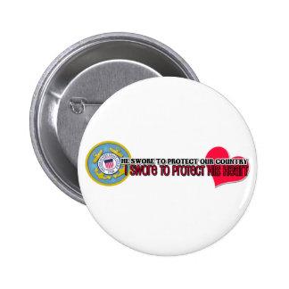 Protect his heart Coast Guard Button