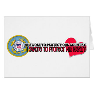 Protect his heart Coast Guard Stationery Note Card