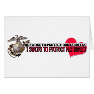 Protect his heart Marines Greeting Cards