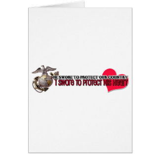 Protect his heart Marines Stationery Note Card