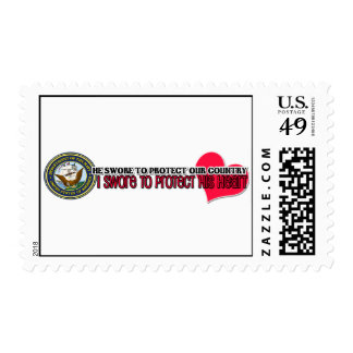 Protect his heart Navy Stamp