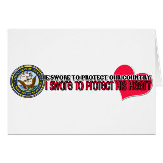 Protect his heart Navy Stationery Note Card