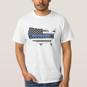 Protect Honor Serve Thin Blue Line T-Shirt