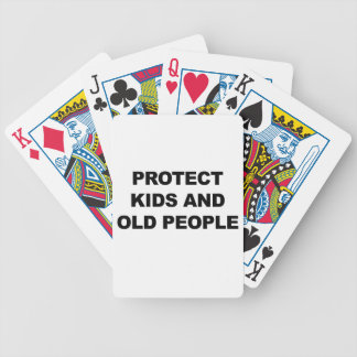 Protect Kids and Old People Bicycle Playing Cards