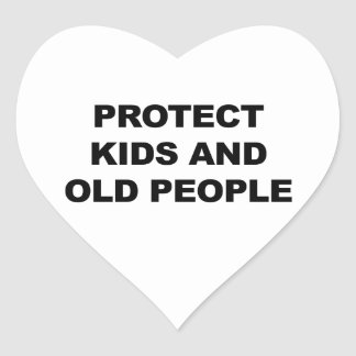 Protect Kids and Old People Heart Sticker