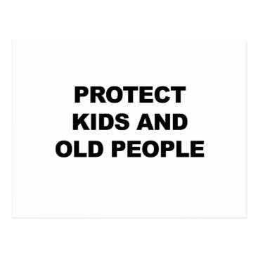 Beach Themed Protect Kids and Old People Postcard