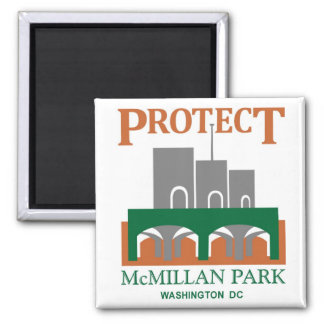 Protect McMIllan Park 2 Inch Square Magnet