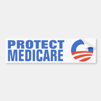 Protect Medicare Obama 2012 Bumper Sticker