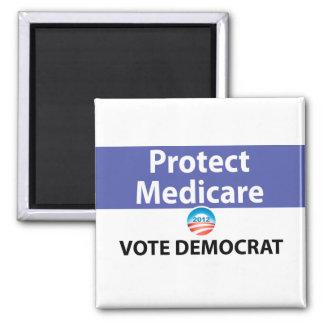 Protect Medicare: Vote Democrat 2 Inch Square Magnet