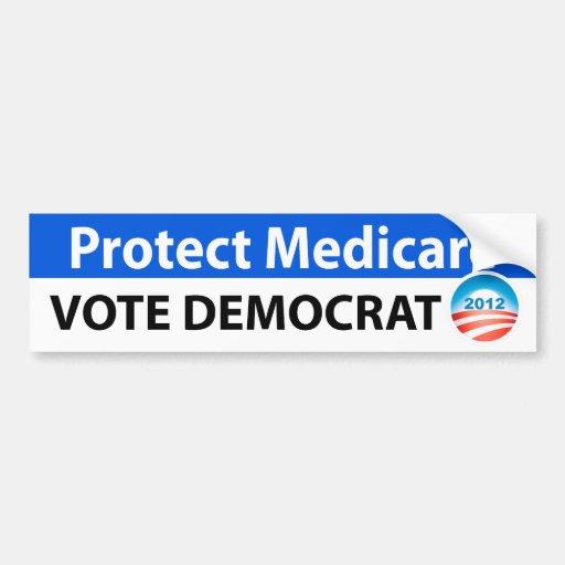 Protect Medicare: Vote Democrat Bumper Sticker