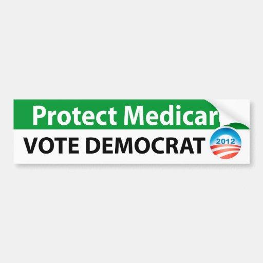 Protect Medicare: Vote Democrat Bumper Stickers