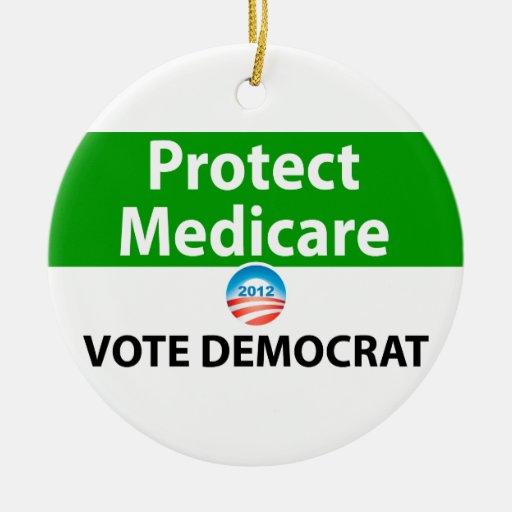 Protect Medicare: Vote Democrat Christmas Ornament