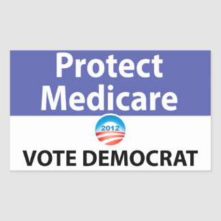 Protect Medicare: Vote Democrat Rectangular Sticker